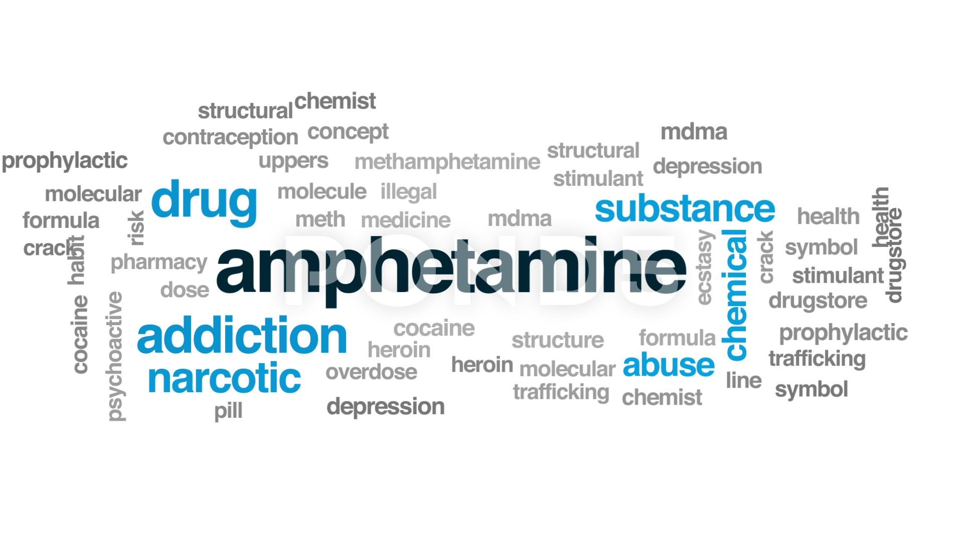 Amphetamine animated word cloud text design animation Footage 1920x1080