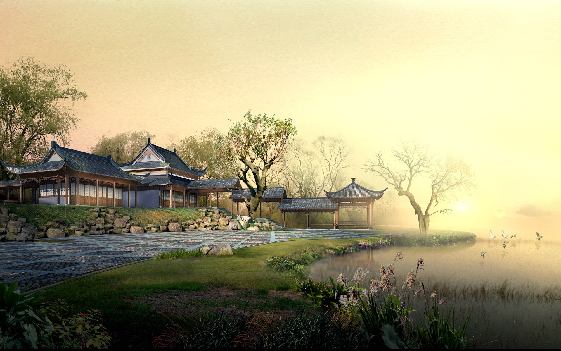 Chinese landscape wallpaper 5 1152x720 Chinese landscape wallpaper 1920x1200