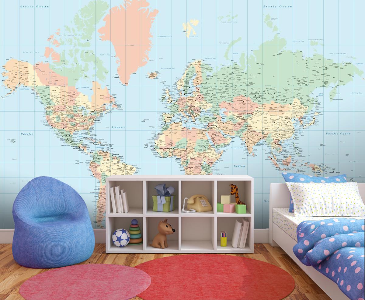 World map wallpaper for kids wallpapersafari children world map wallpaper from watts london made by watts london 1200x989 gumiabroncs Gallery