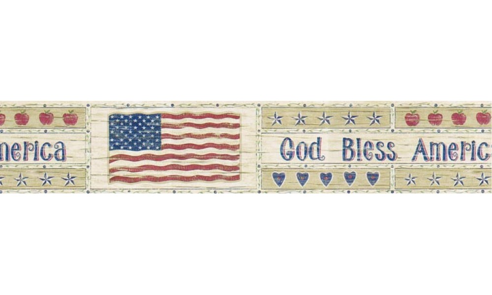 Home Flag Wallpaper Border B5806900 1000x600