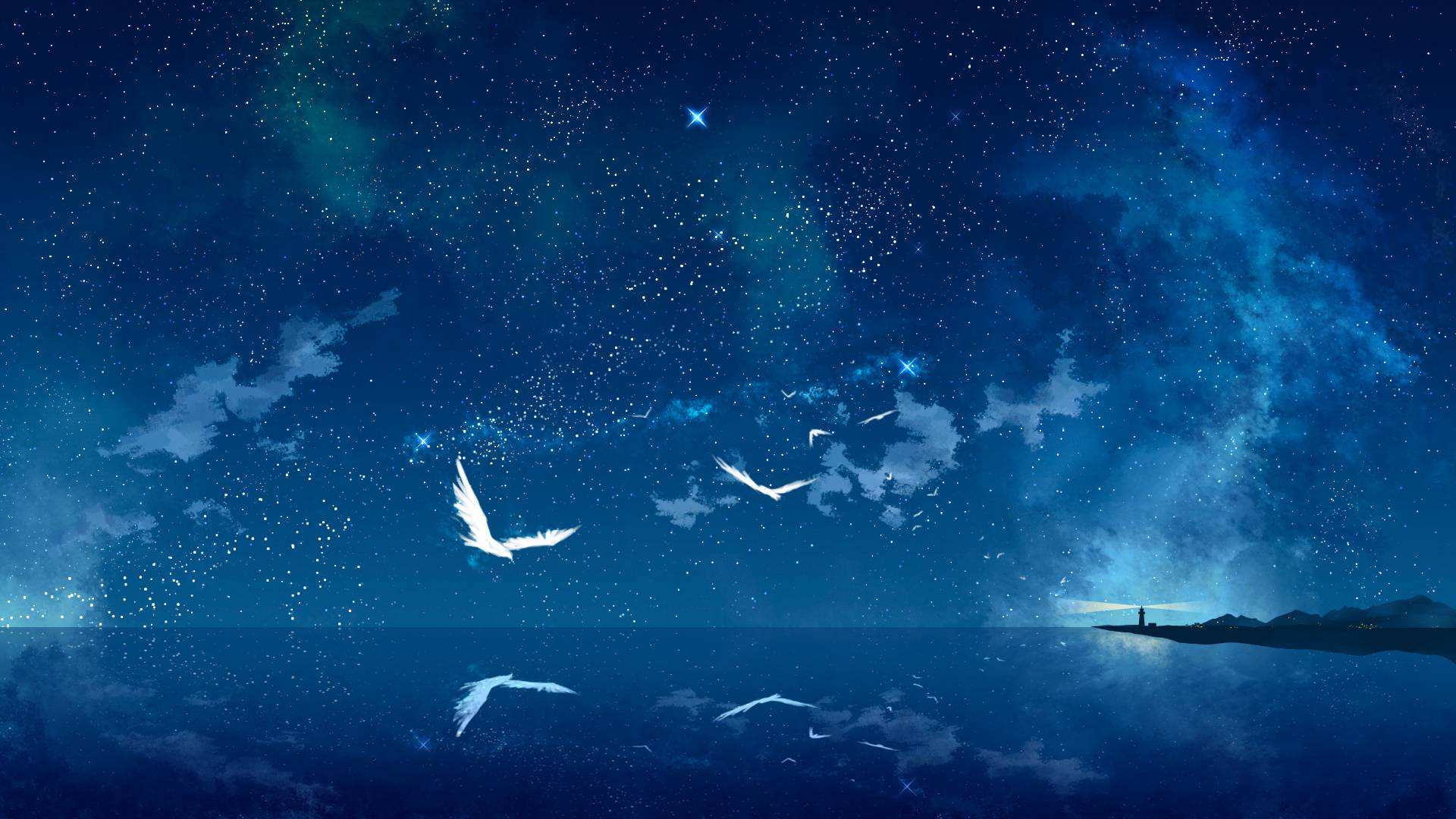 Anime Night Sky wallpaper   1135536 1920x1080