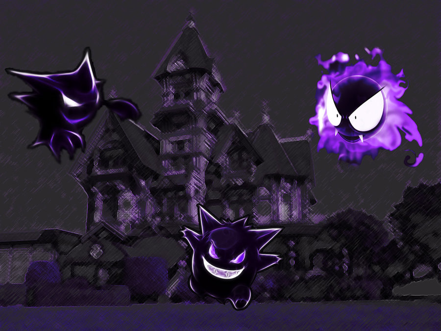 Ghost Pokemon by Merterm 900x675
