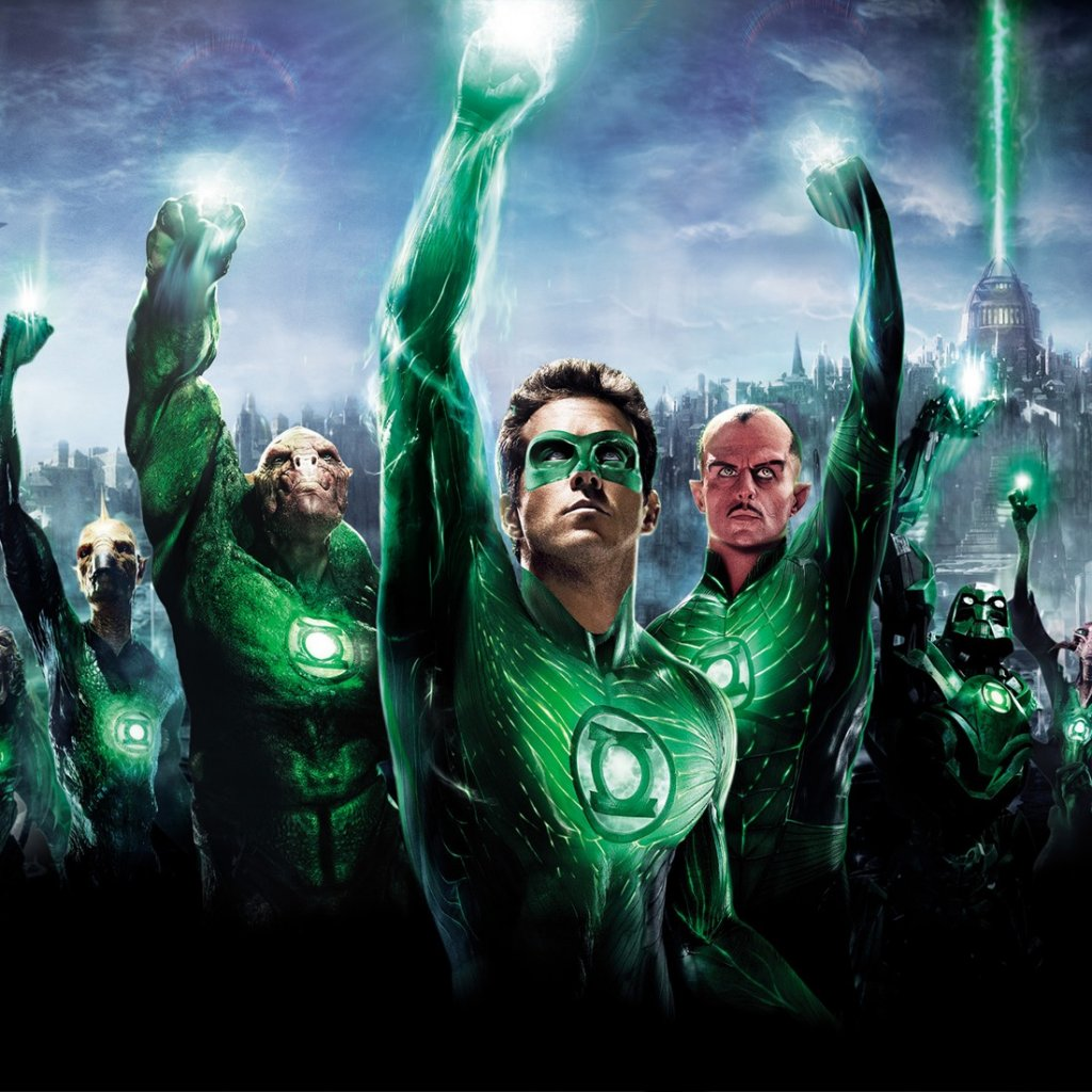 Hal Jordan and the Green Lantern Corps iPad wallpaper 1024x1024