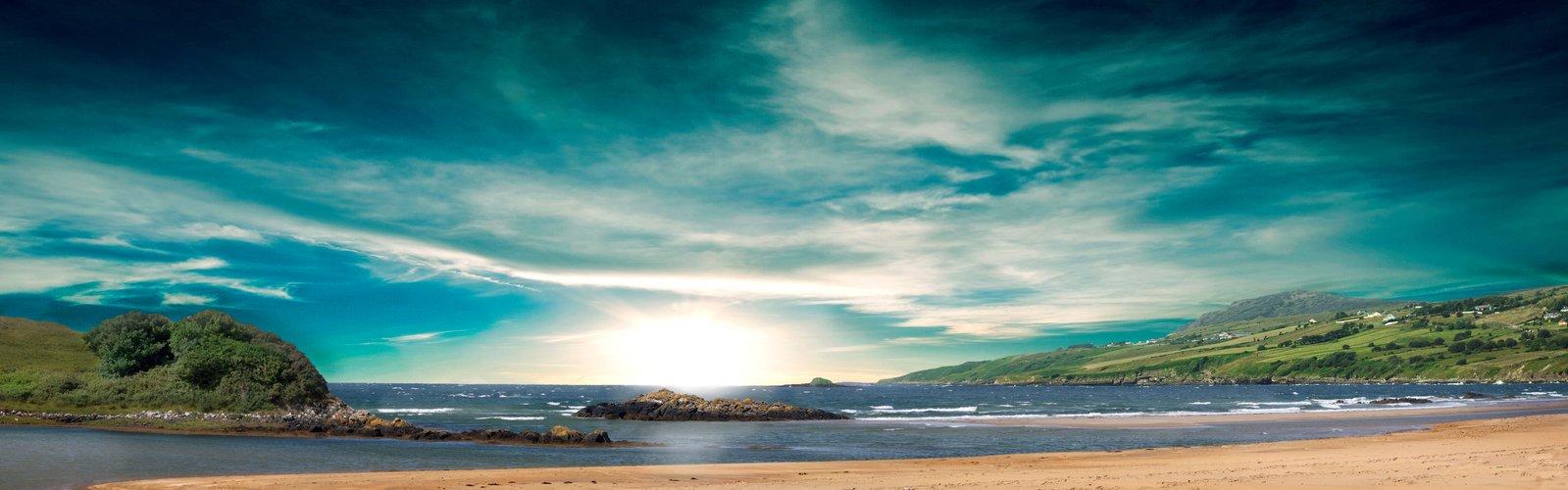 Beach Panorama Wallpaper - WallpaperSafari