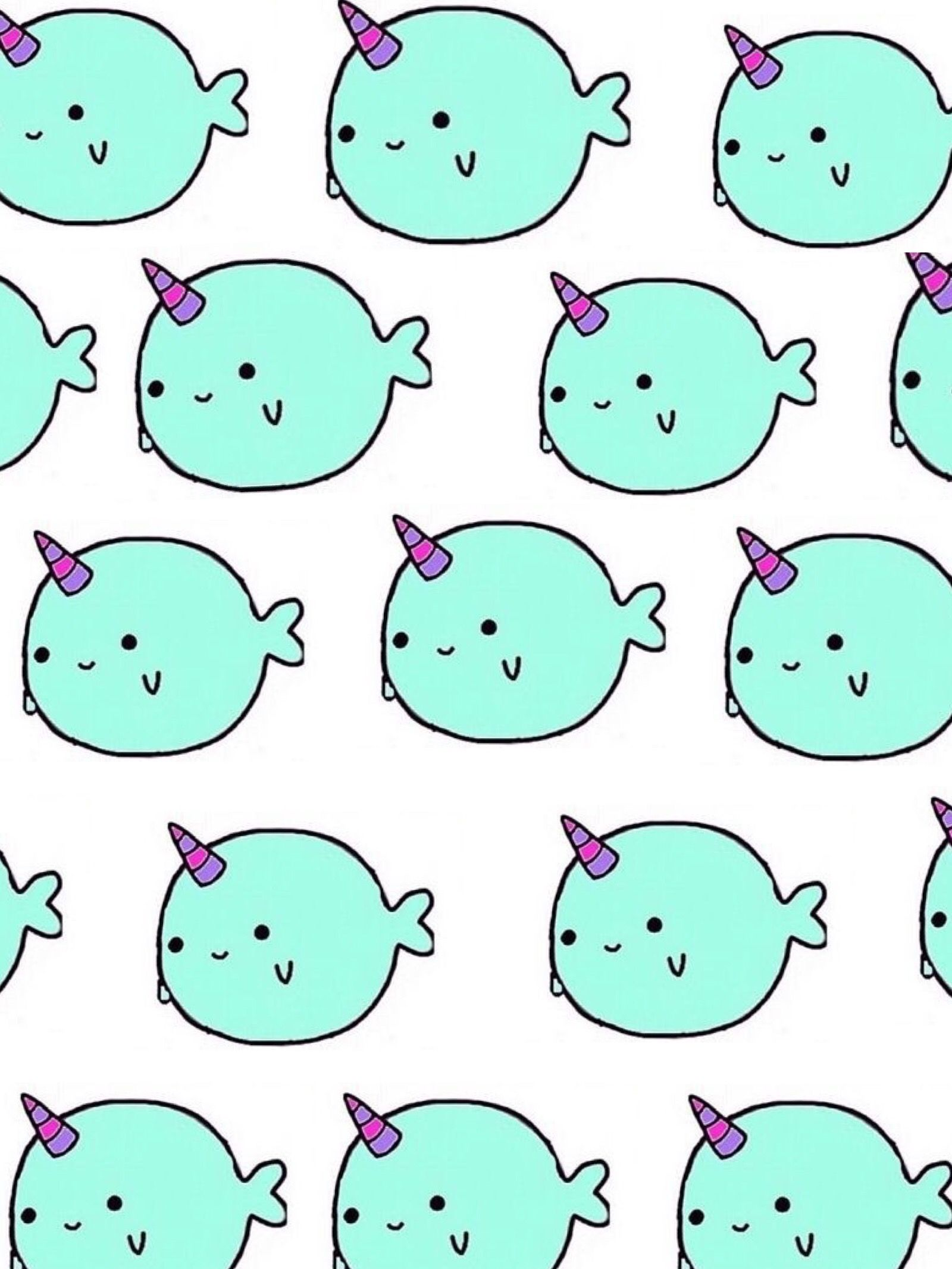 Narwhal wallpaper AdOrAbLe Cute narwhal Backgrounds girly 1600x2132