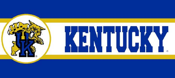 Kentucky Wildcats 7 Tall Wallpaper Border 600x267