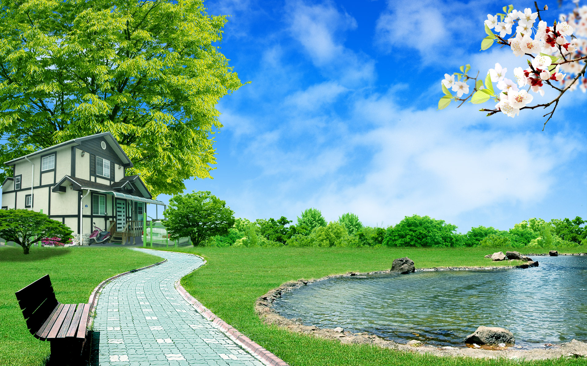 summer fantasy landscape for desktop wallpaper Wallpapers   HD 1920x1200