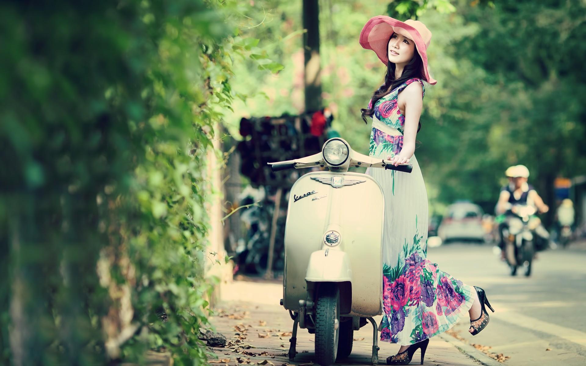 Beautiful Asian Model Spring Colors wallpapers Beautiful Asian Model 1920x1200
