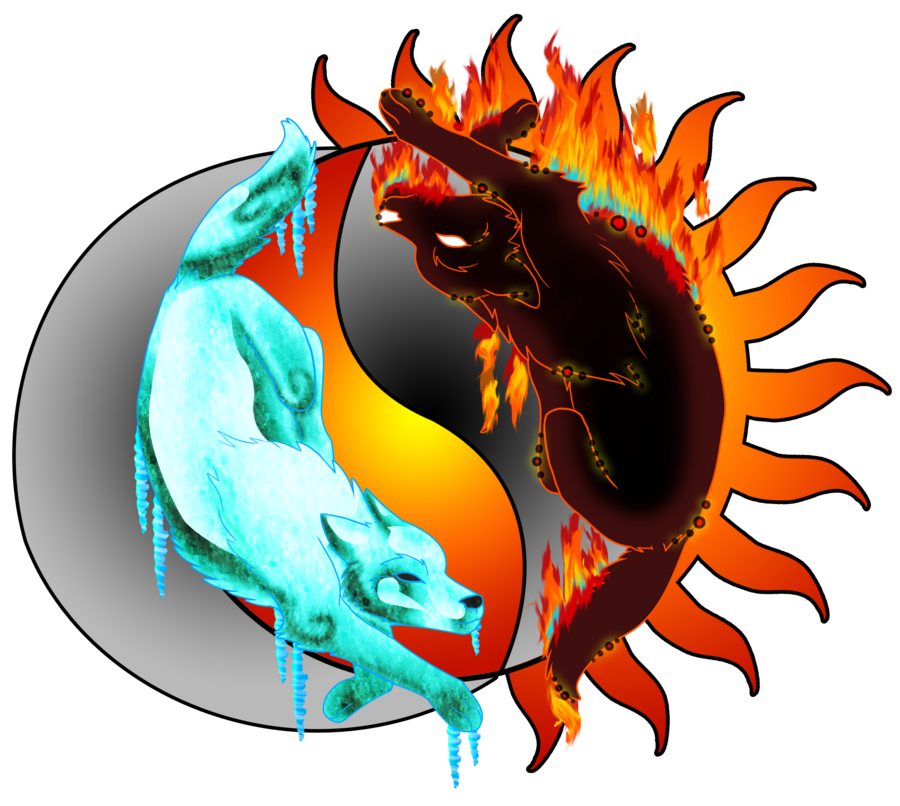 Free Download Icefire Wolf Yin Yang By Rainbowdogma 900x806 For Your Desktop Mobile Tablet Explore 47 Fire And Ice Wolf Wallpaper Fire Dragon Wallpaper Fire Dept Wallpapers And Screensavers Ice Wallpaper