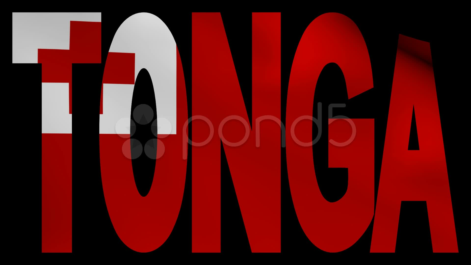 Tonga text with fluttering flag animation Video 21375670 1920x1080