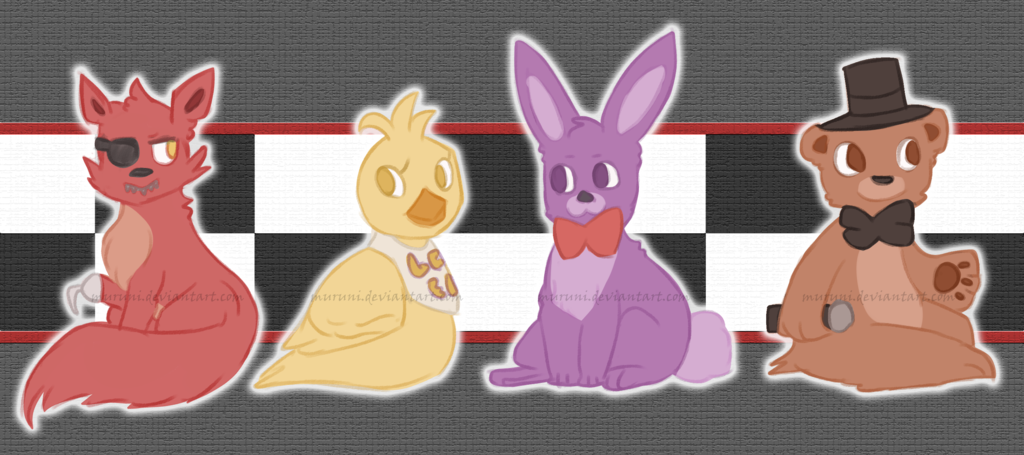 FNAF] theyre cute as animals by Muruni 1024x455