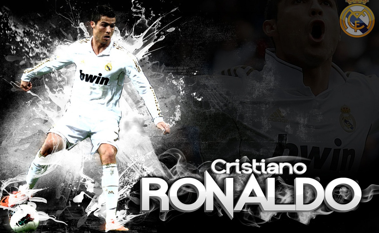 Cristiano ronaldo real madrid wallpaper 1300x800