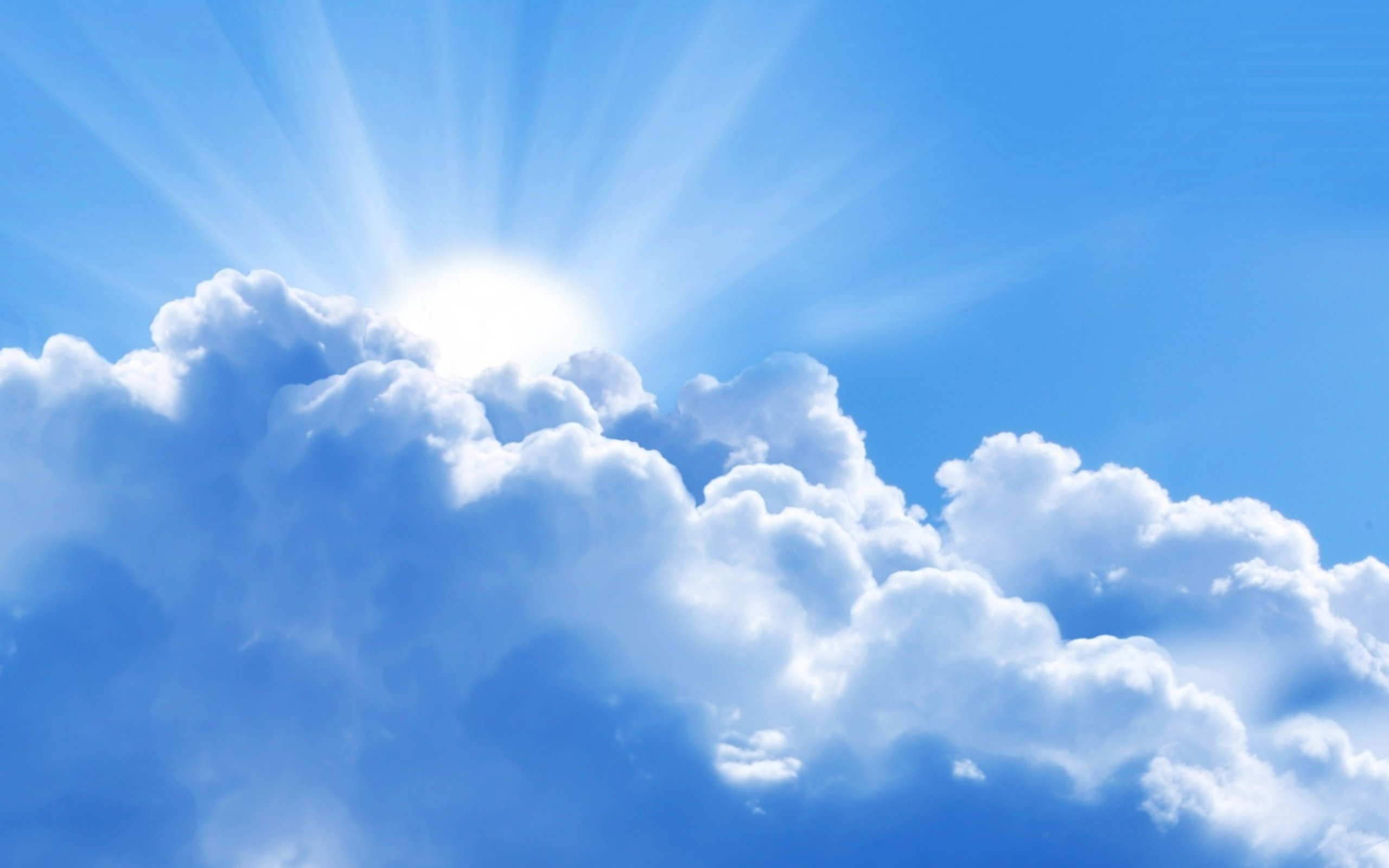 Sky With Clouds Background Blue cloud on the sky 2560x1600