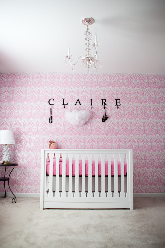 nursery Dee from Sproutstyle designed this nursery for her baby girl 533x800