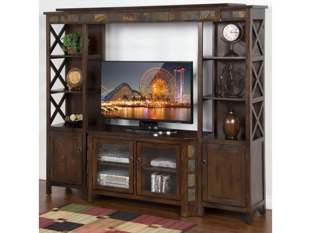 Sunny Designs Santa Fe 4 Piece Entertainment Wall w 45 TV 1024x768