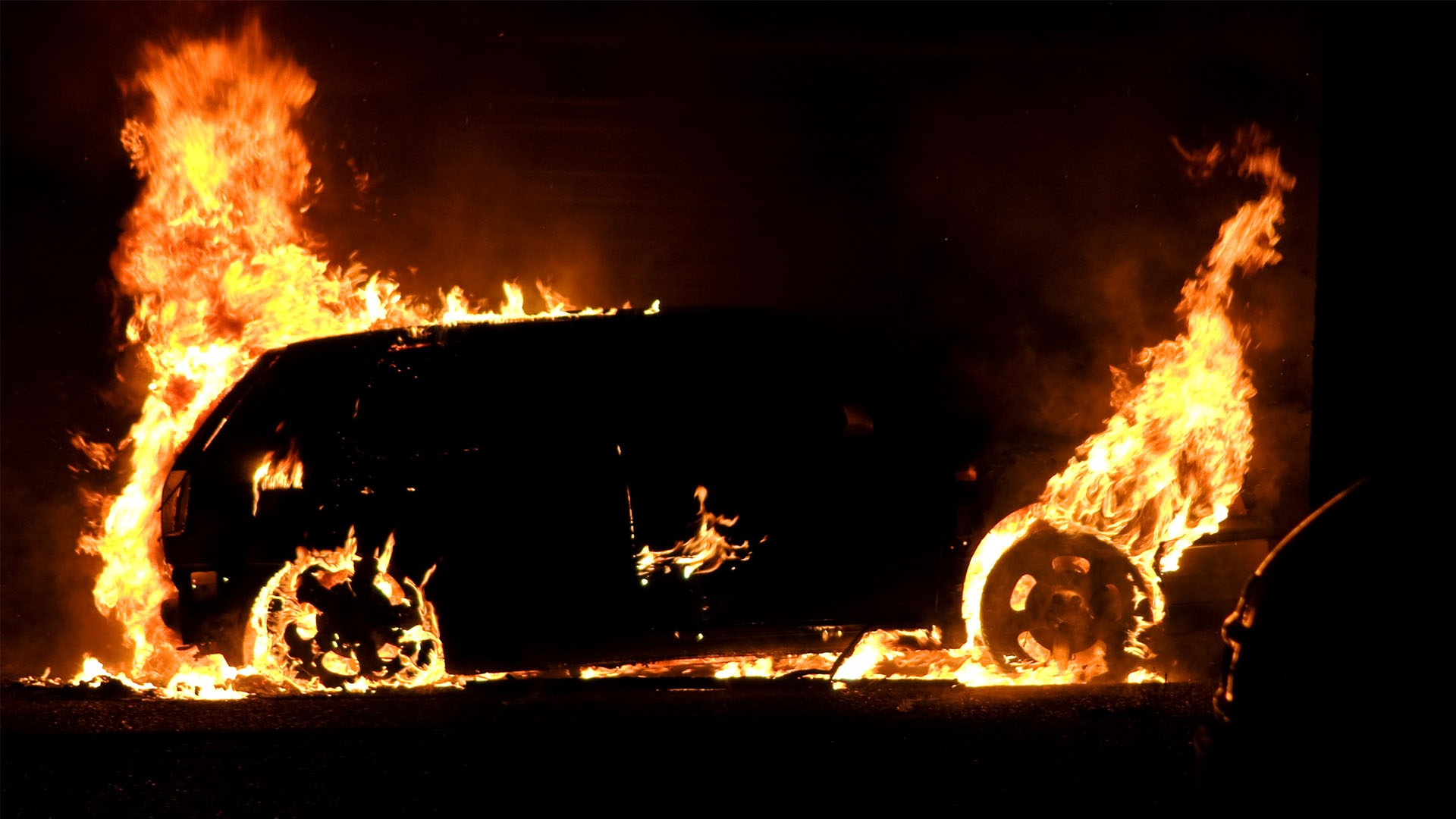 car vw golf on fire 1920x1080 14 hd Best HD Fire Desktop Wallpapers 1920x1080