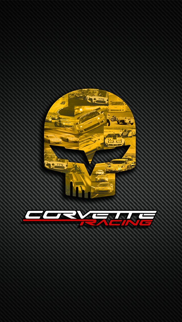 Corvette Logo Wallpaper Corvette c6 iphone 5 640x1130
