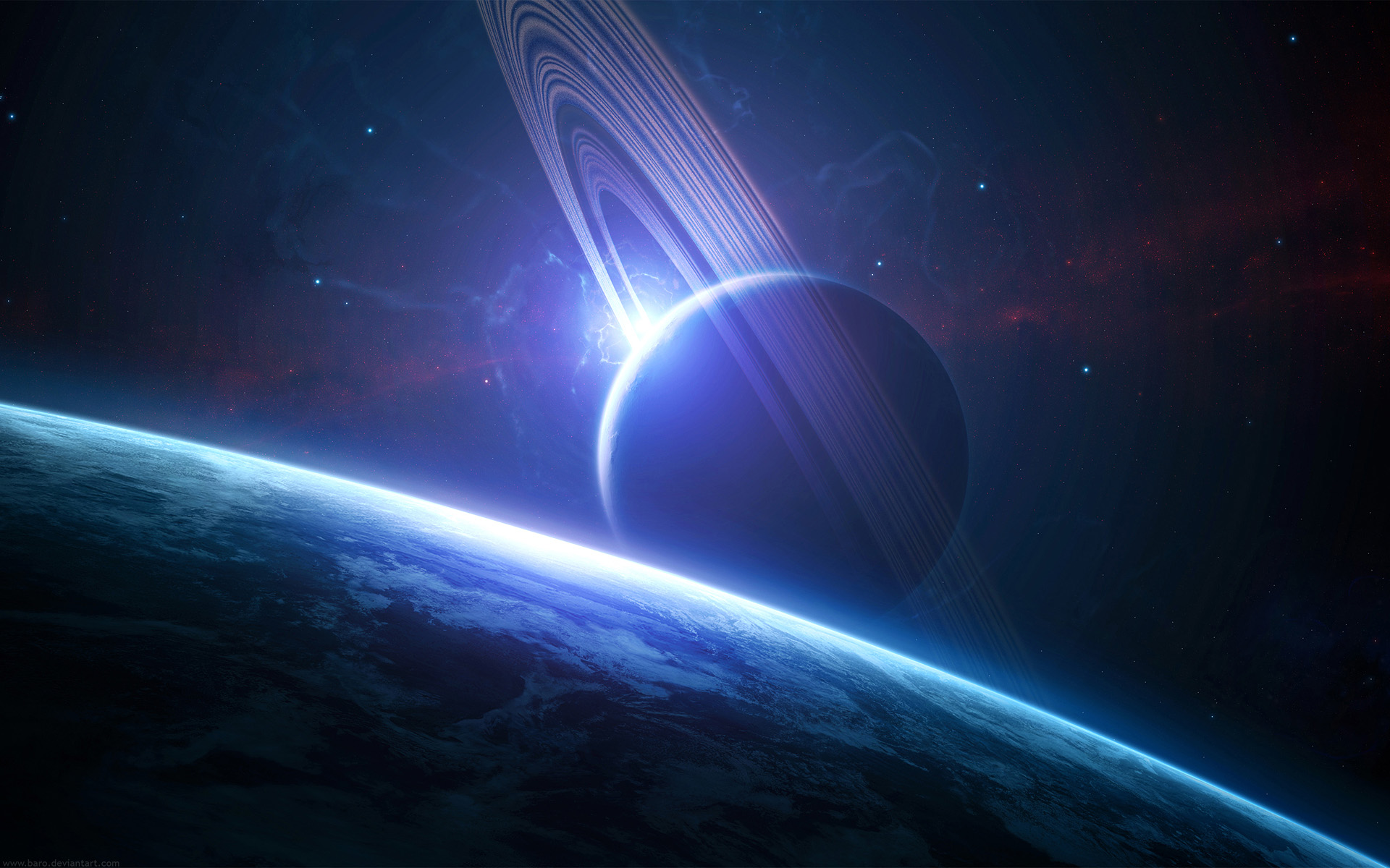 Space Planet HD Desktop Wall Papers 2 1920x1200