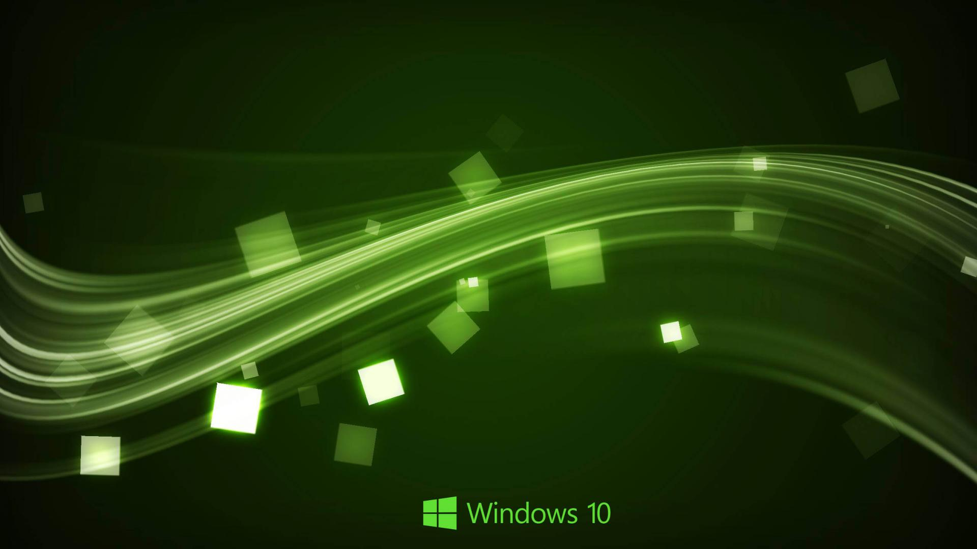 Windows 10 Wallpaper in Abstract Green Waves HD Wallpapers for 1920x1080