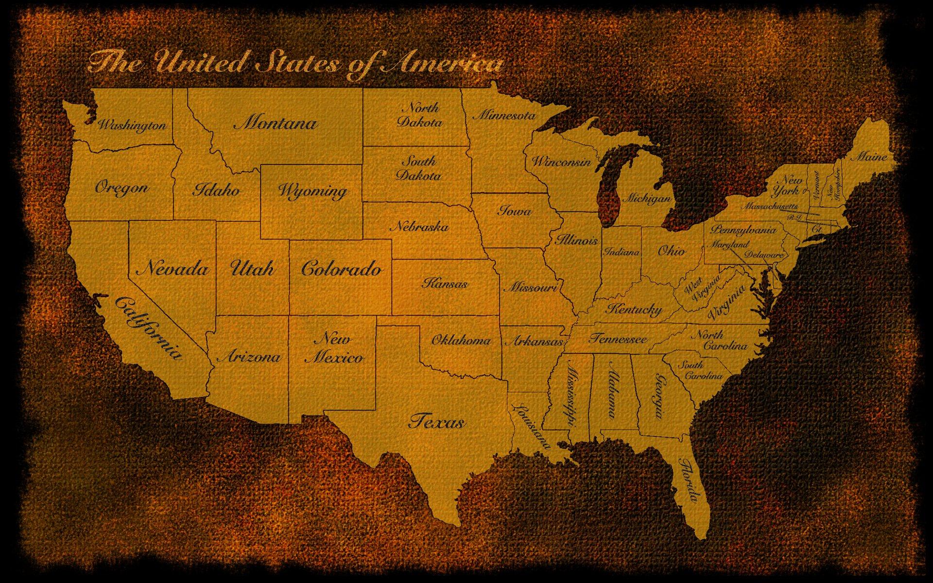 Usa us map america old rustic states patriotic wallpaper 1920x1200