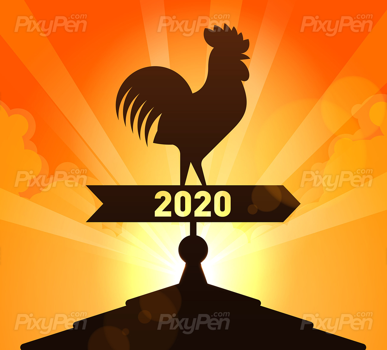 New Year 2020 is coming soon   Vector Illustration PixyPen 1300x1176