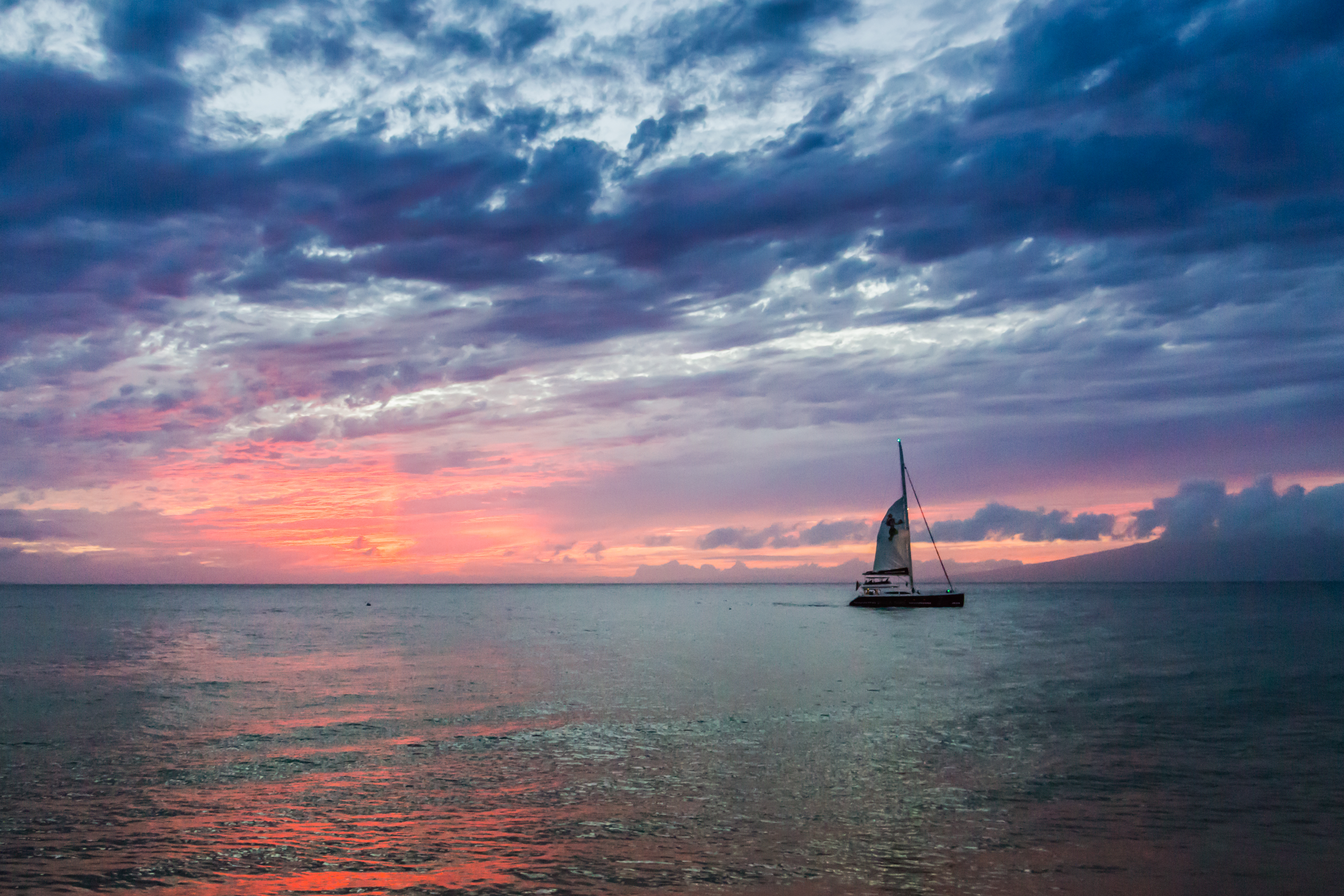 HD Wallpaper Sunset cruise sails by Kaanapali Beach Maui 4672x3115