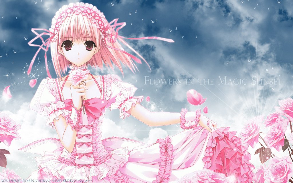 Random Role Playing Cute girl anime wallpaper 1024x640