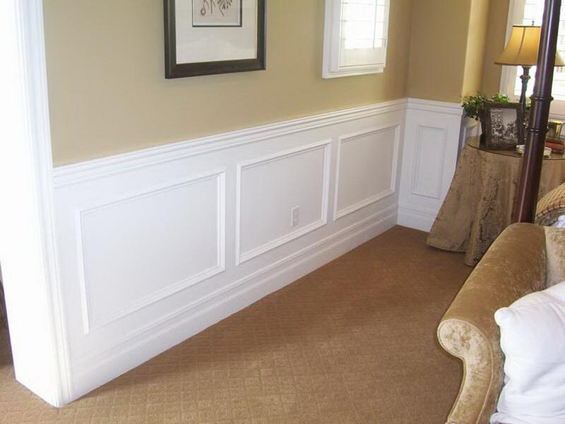 Faux Wainscoting Wallpaper