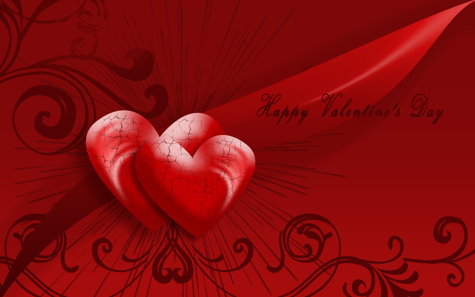 Valentines Day Heart Love Swirl 1920x1200