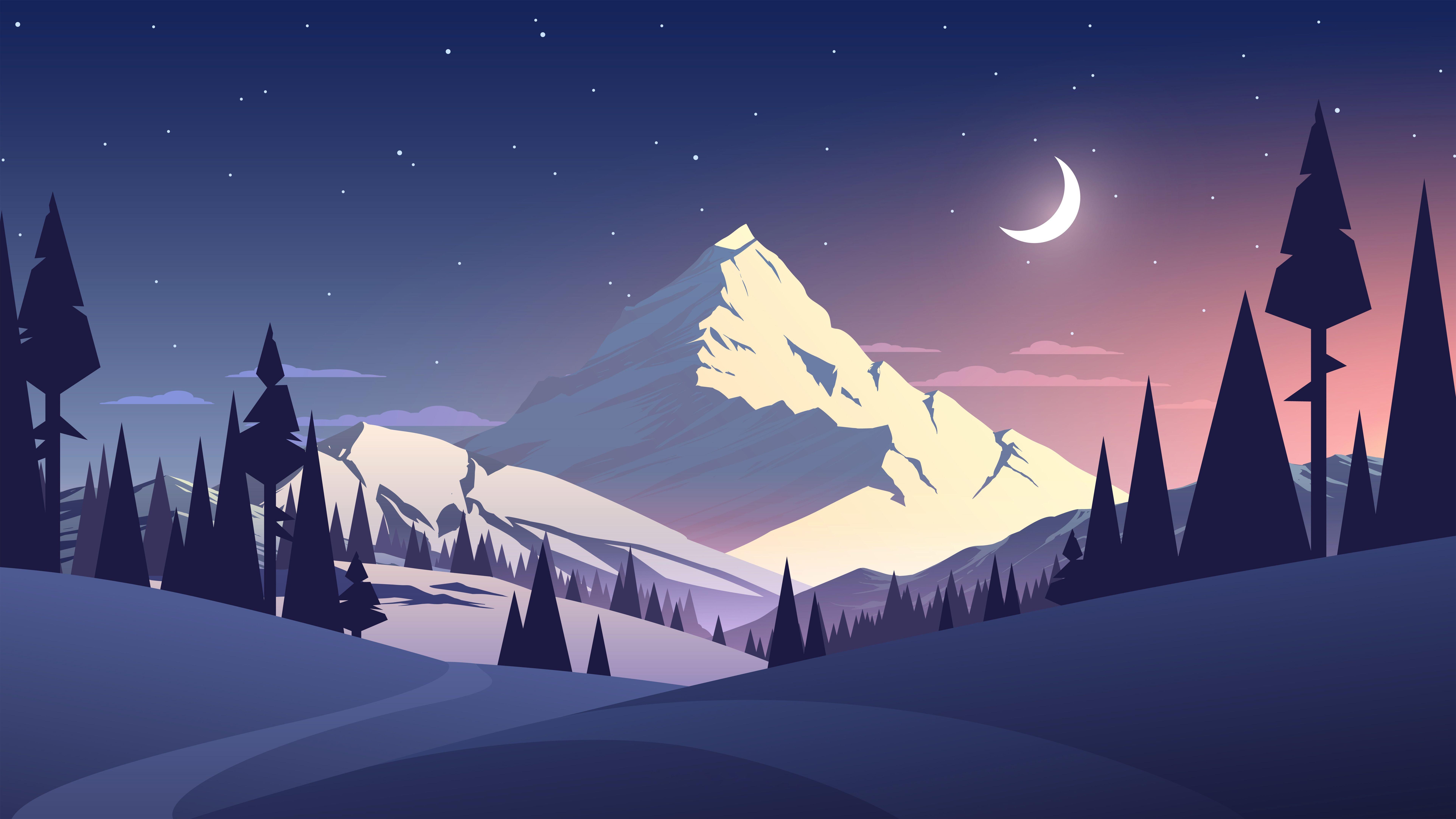 Night Illustration HD Wallpapers   Top Night Illustration HD 7698x4330