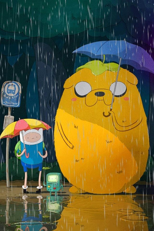 Adventure Time Fun iPhone 4 Wallpaper 640x960