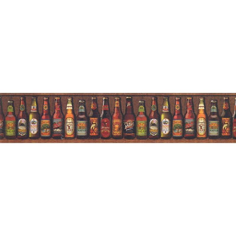 Wallpaper Border Novelty Beer Bottles Border 800x800