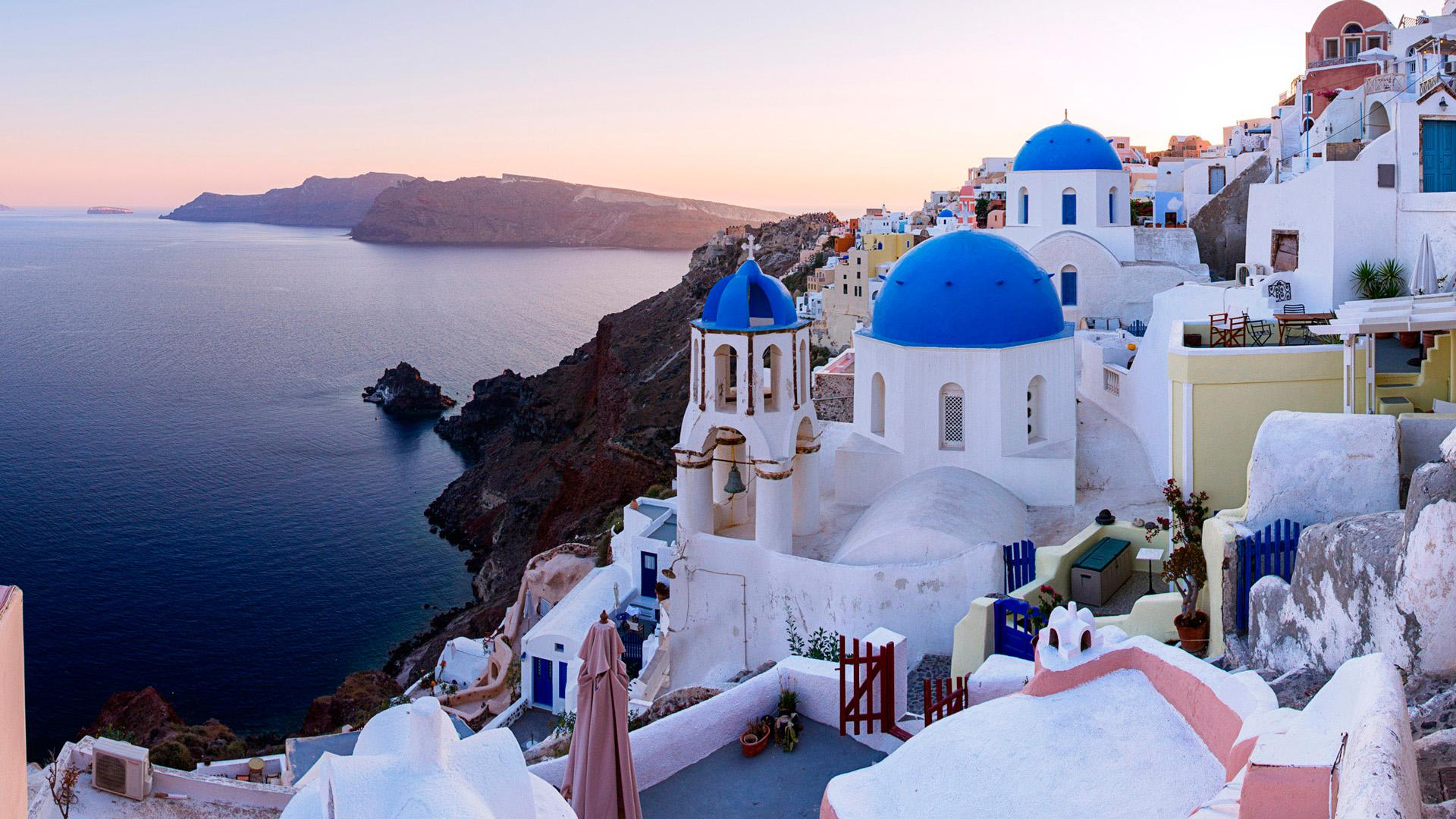 Santorini HD Wallpaper Background Images 1920x1080