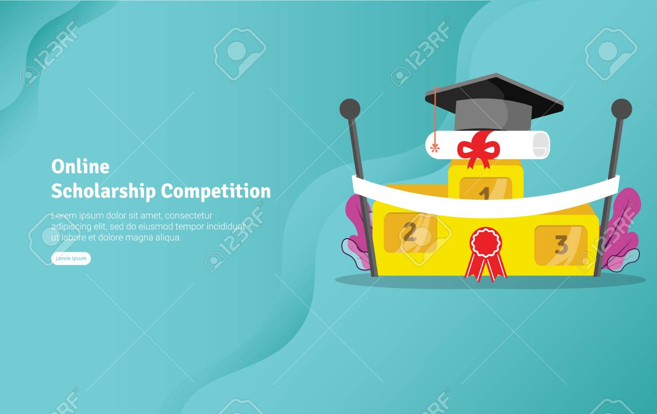 Online Scholarship Concept Educational And Scientific Illustration 1300x819
