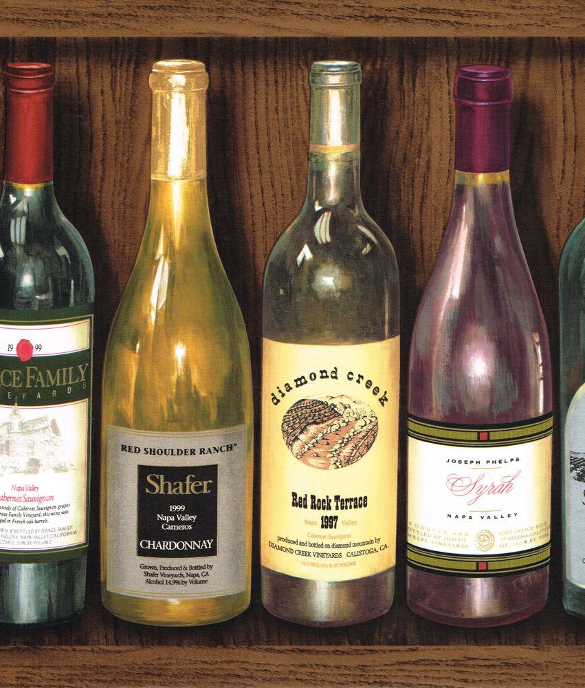 Kinds Bottles on Shelf 13 1 2 inch Wide Wallpaper Border Wall eBay 851x1000