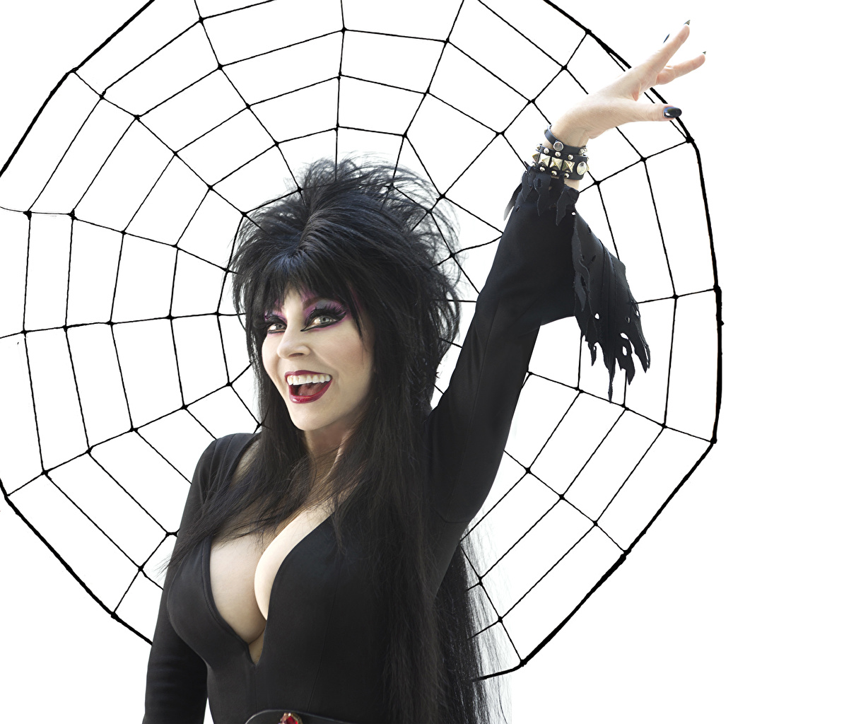 Wallpapers Elvira Mistress of the Dark Breast Brunette 1194x1024