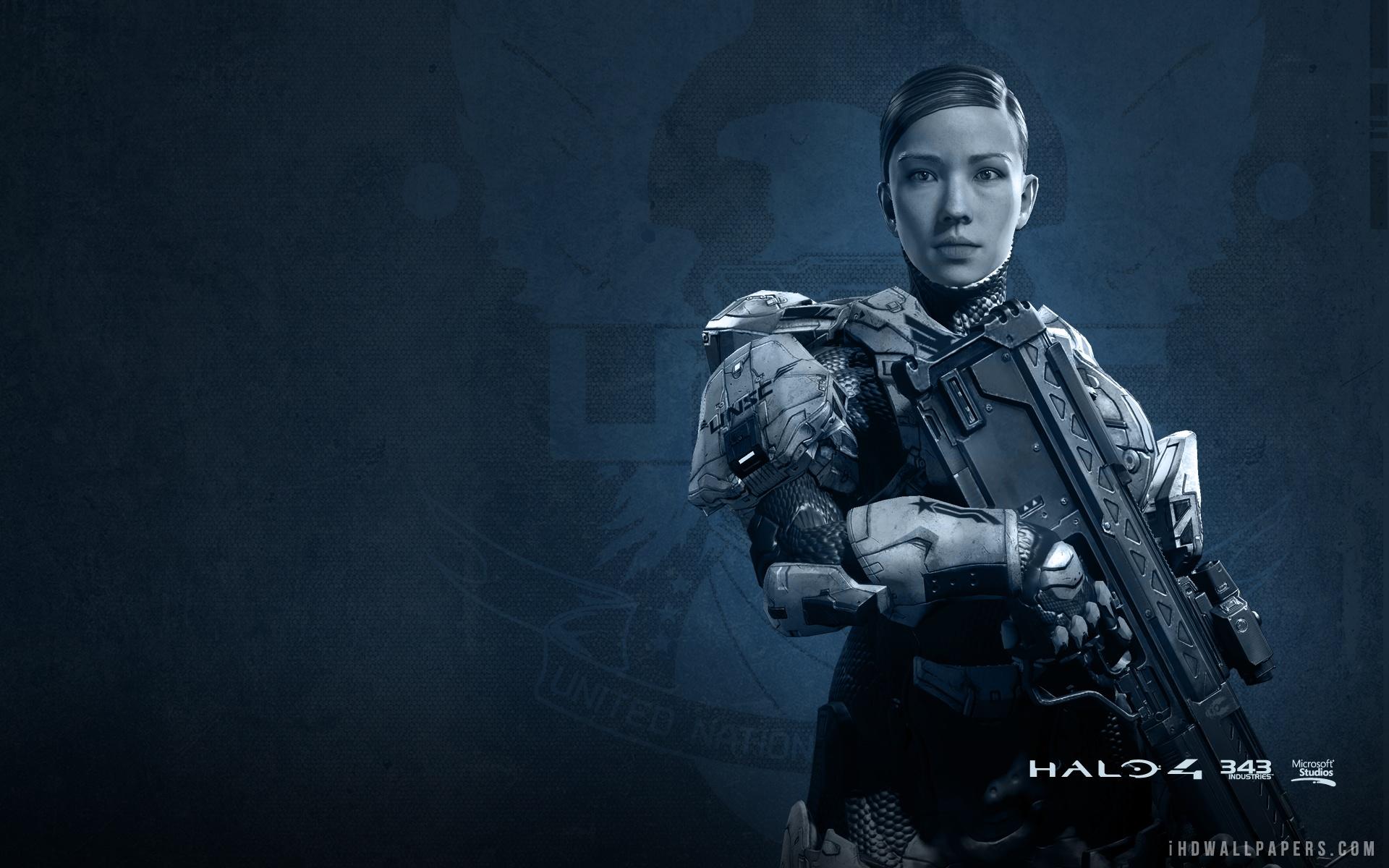 Commander Sara Palmer in Halo 4 Wallpaper 1920x1200