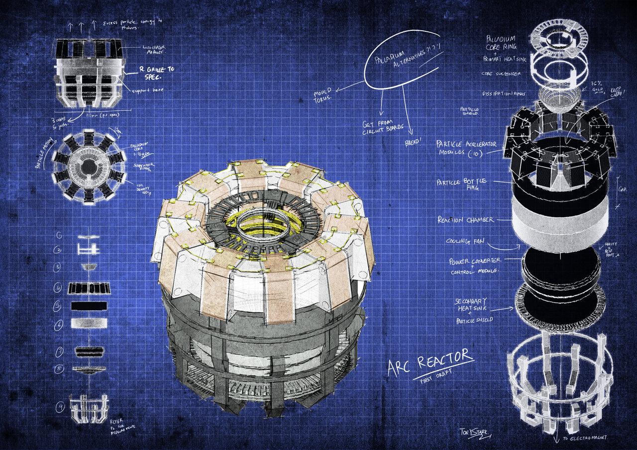Arc Reactor Blueprints by fongsaunder 1280x905