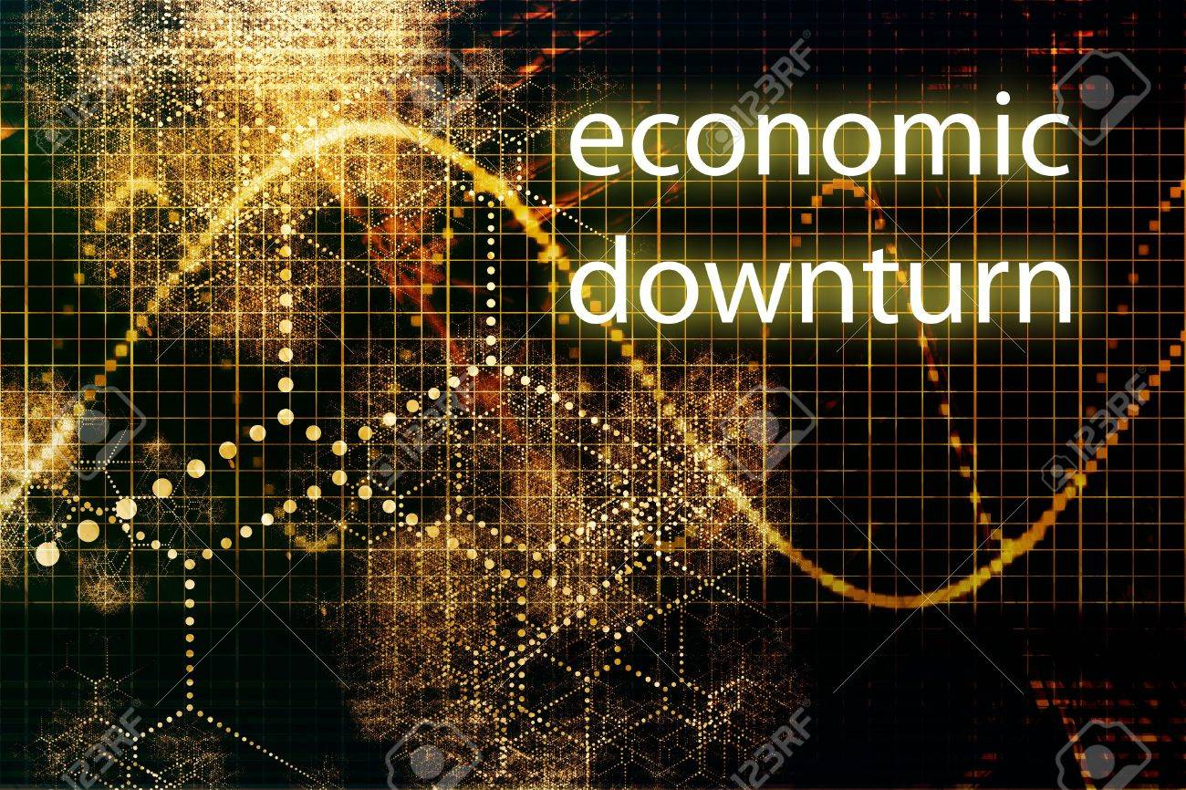Economic Downturn Abstract Business Concept Wallpaper Background 1300x866