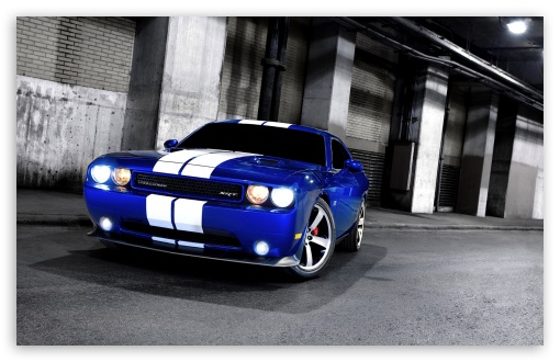 Dodge Challenger SRT8 Blue HD desktop wallpaper Widescreen High 510x330