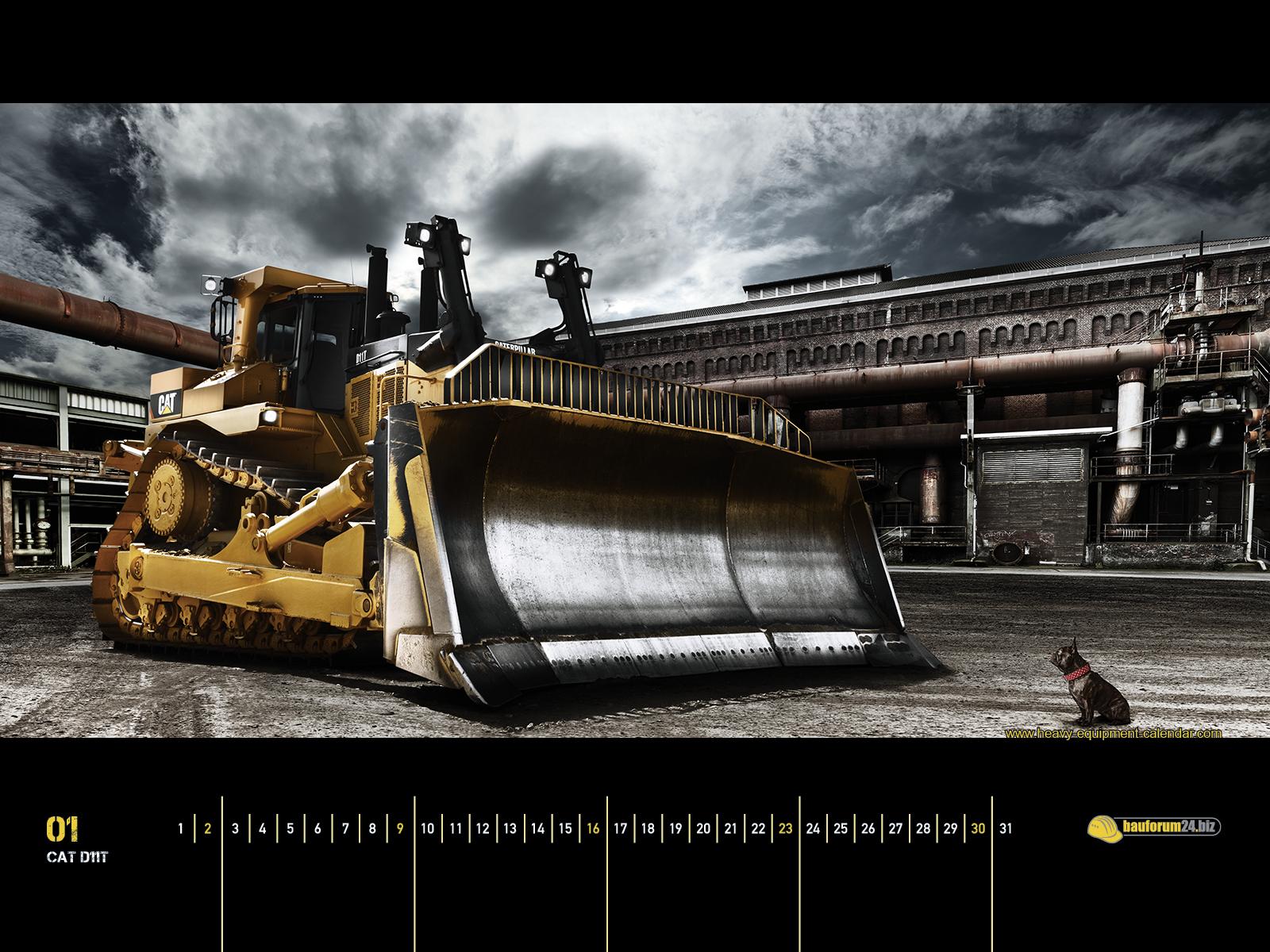 CAT D11T Heavy Equipment Calendar 1600x1200