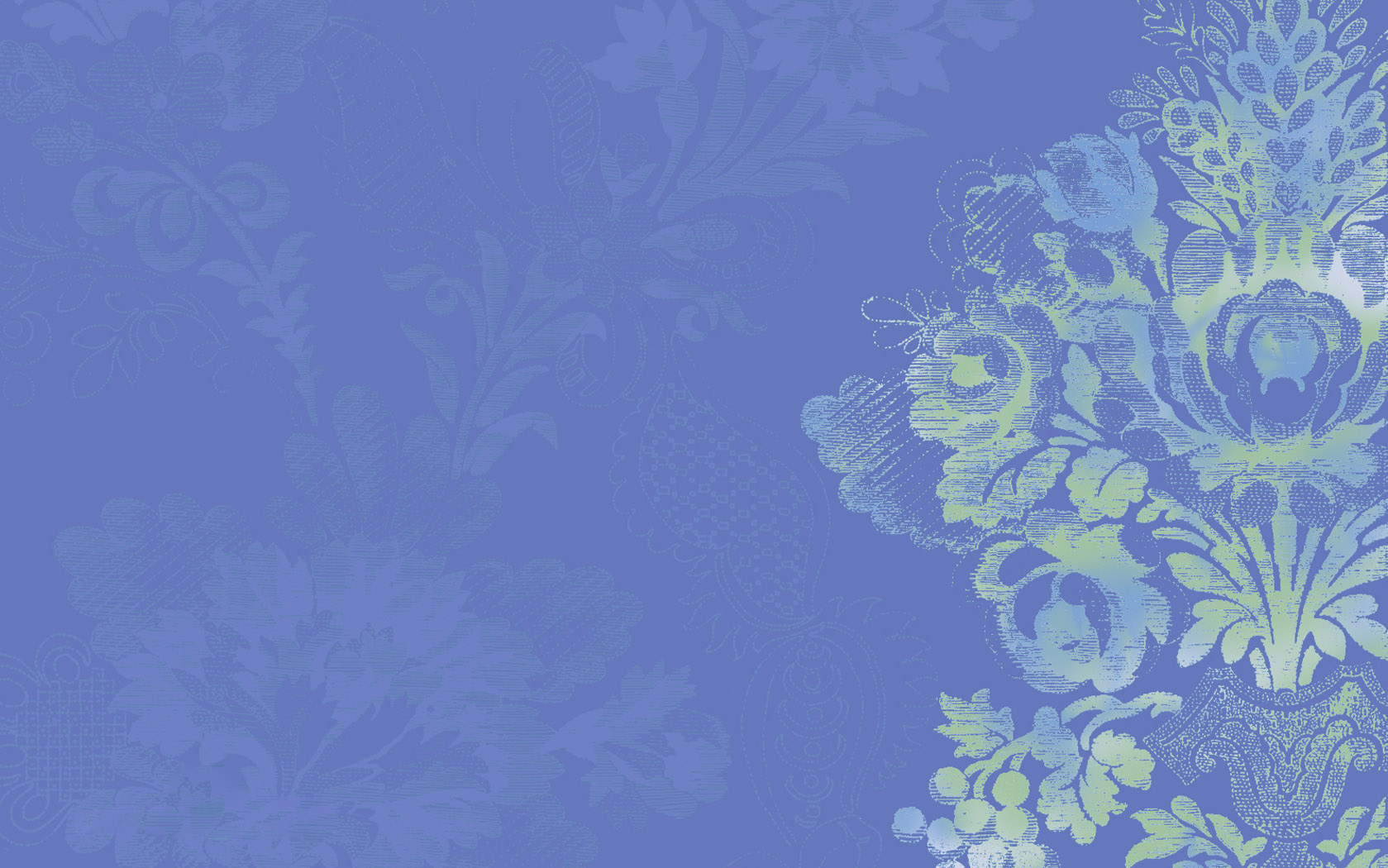 calming wallpaper in serene blue with stylized floral design 1679 1679x1050