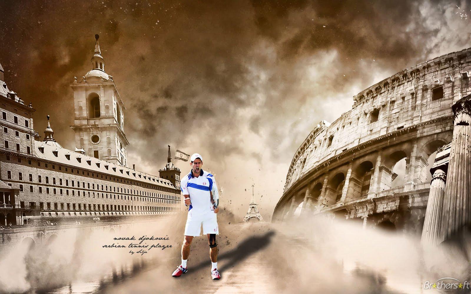 Beautiful wallpaper with a picture of Novak Djokovic 1600x1000