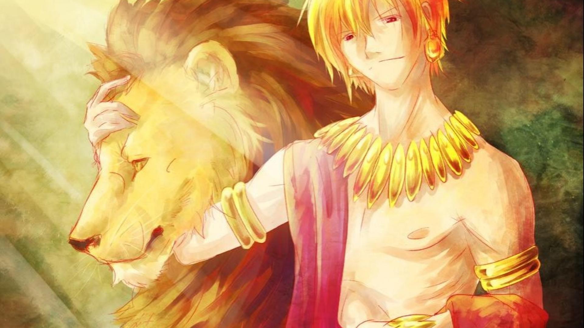 Gilgamesh anime boys lions fatezero fate series wallpaper 2667 1920x1080