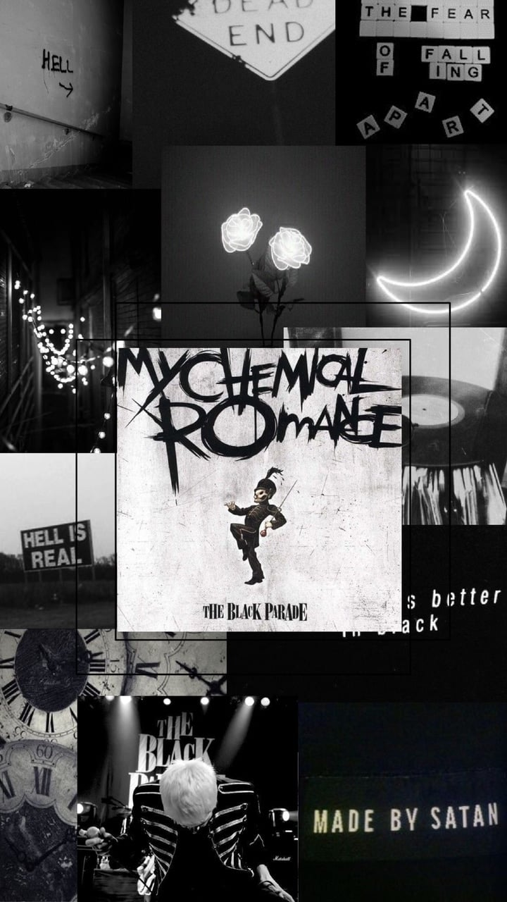 The black parade aesthetic wallpaper on We Heart It 720x1280