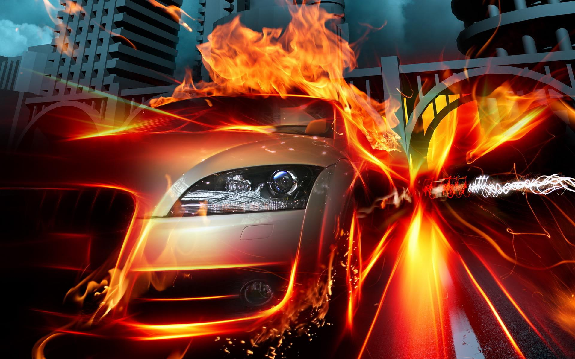Best Cool Fire Car Widescreen HD Wallpaper   Stylish HD Wallpapers 1920x1200