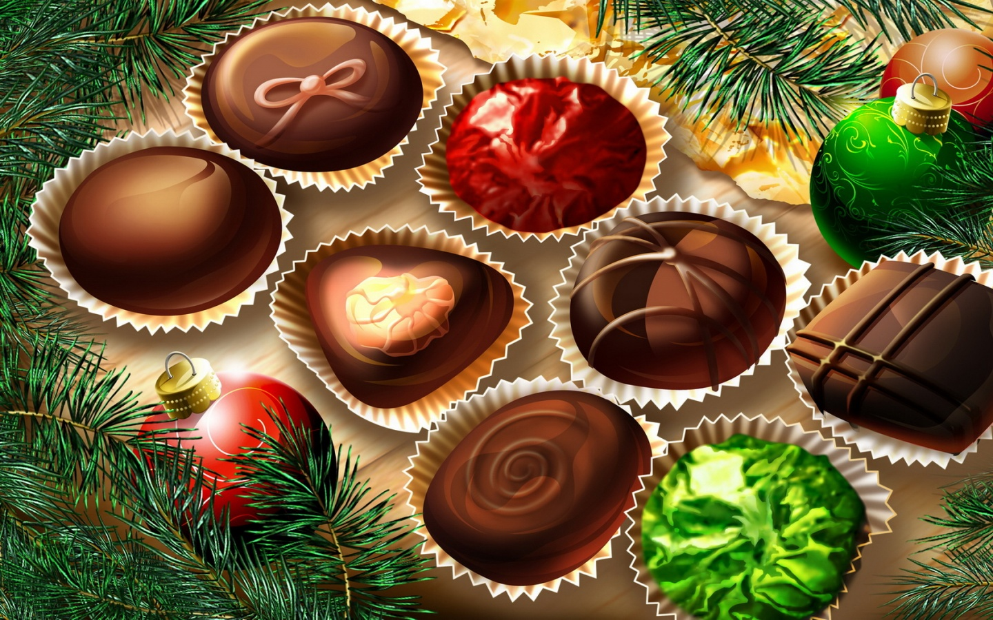 computer wallpaper Christmas Chocolates Wallpaper For Computer 1440x900