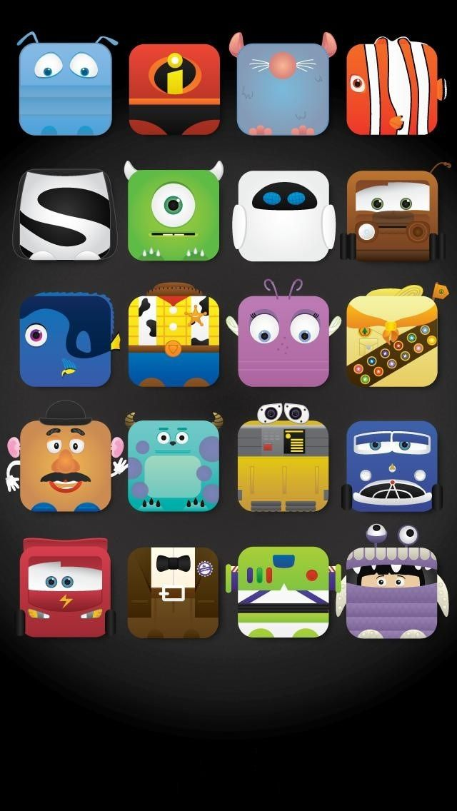 Character Iphone Wallpapers Door Dec Backgrounds Disney Pixar 640x1136