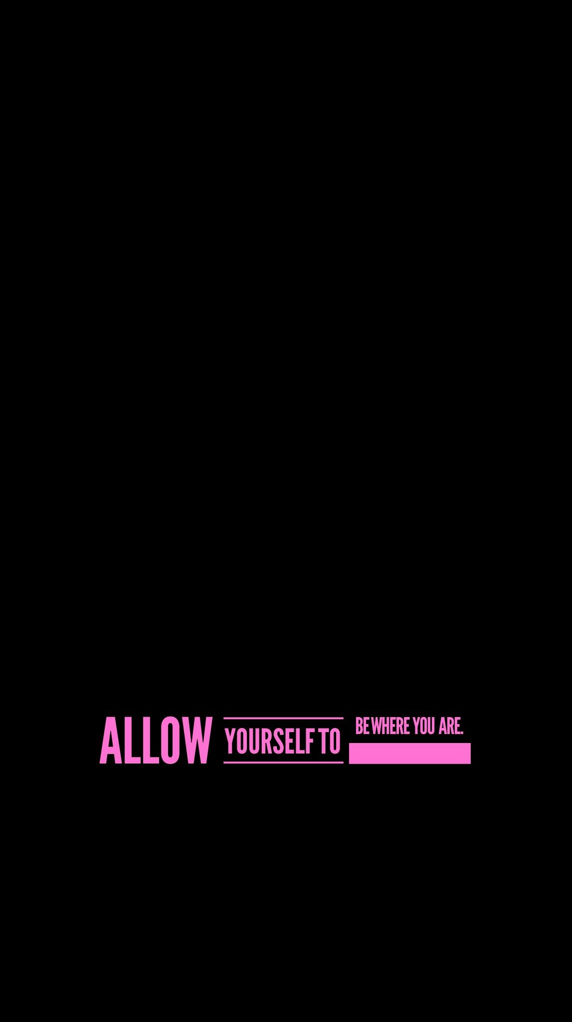 wallpaper iPhone Android background quote simple black pink 1147x2048