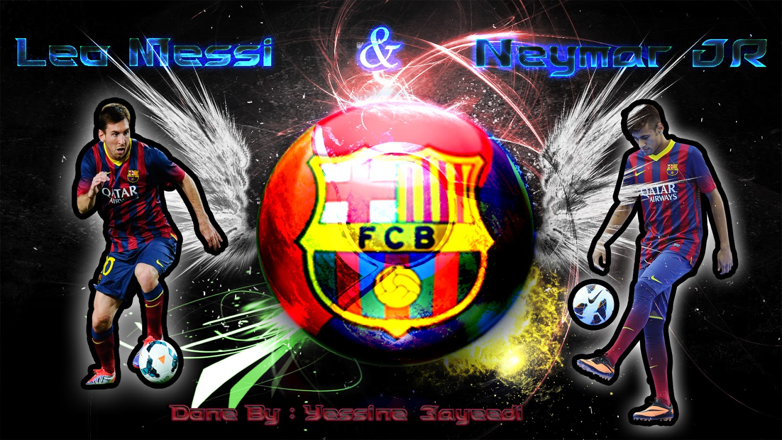 a2df3676b8a World Of Design Neymar JR and Messi Wallpaper Design 1600x900